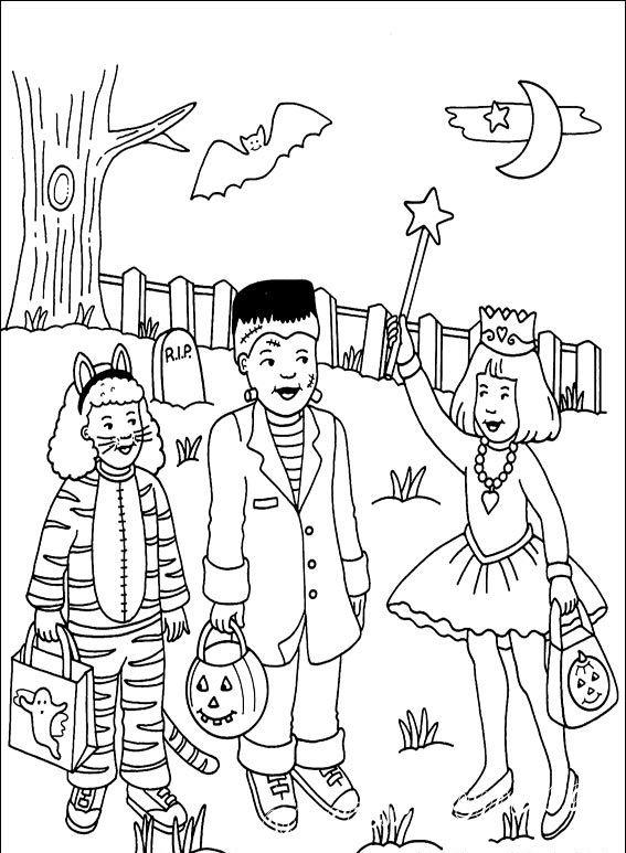 раскраска хэллоуин онлайн