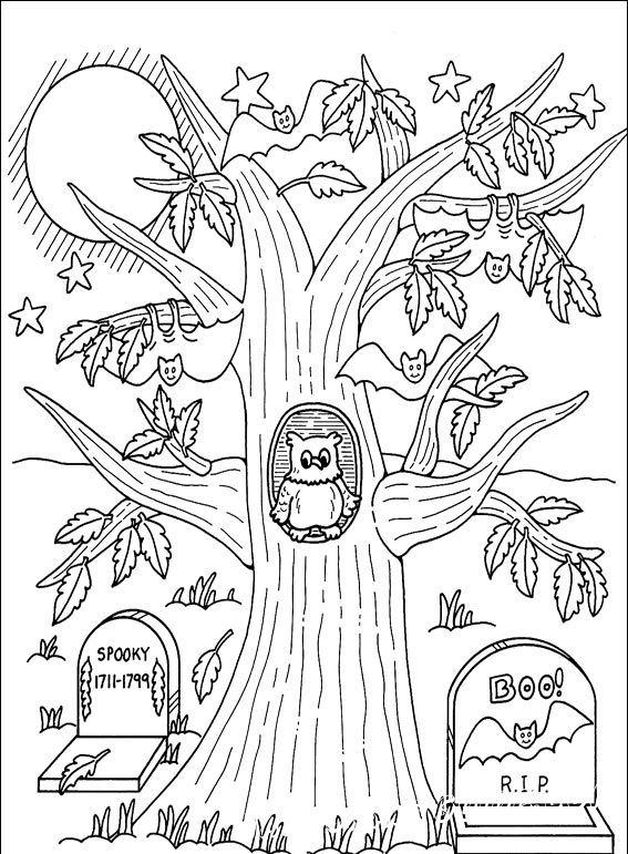 раскраска хэллоуин онлайн для детей