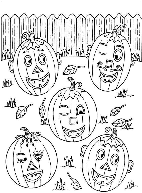 детская раскраска хэллоуин