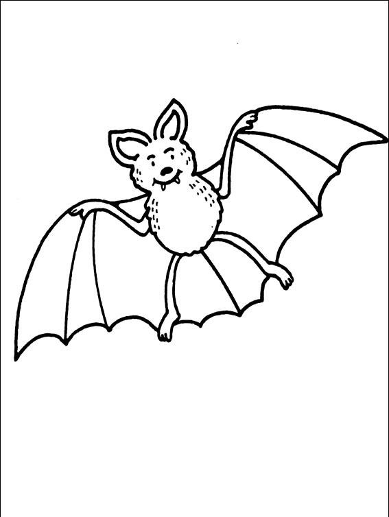 раскраска хэллоуин летучая мышь