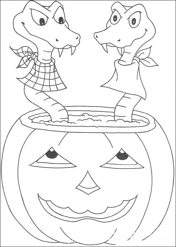 раскраски хэллоуин тыква