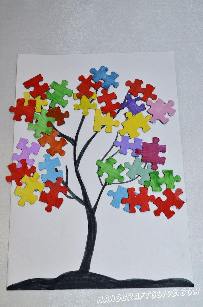 простая детская поделка дерево