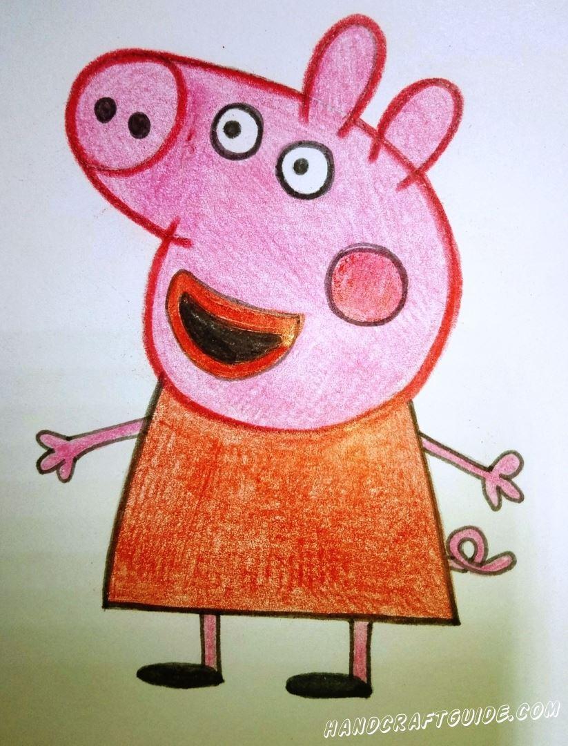свинка пеппа рисунок