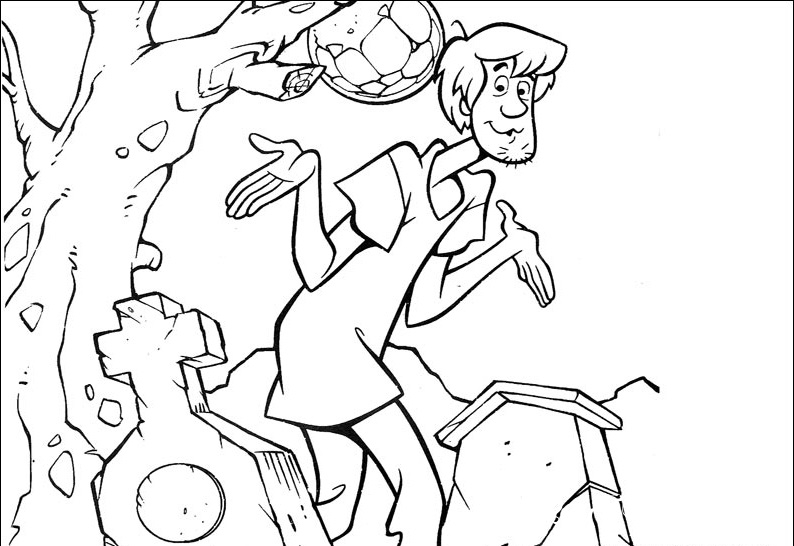 Scooby-Doo part 2 - Coloring Pages, Cartoons, for 5 years ...