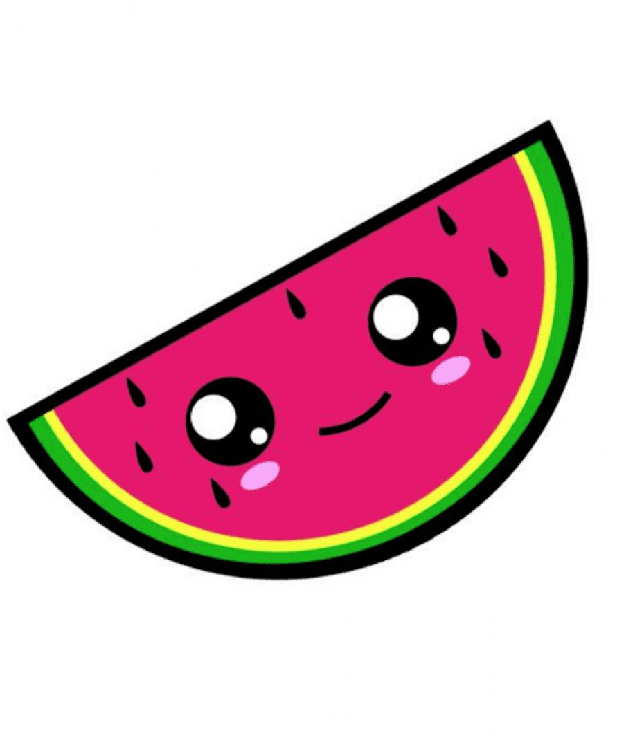 Кавайные картинки фрукты
