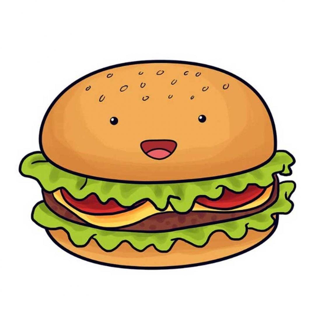 Няшные рисунки еды для срисовки