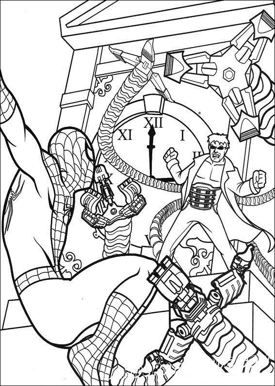Человек-паук. Часть 2 - Раскраски, Герои из мультиков, для ...
