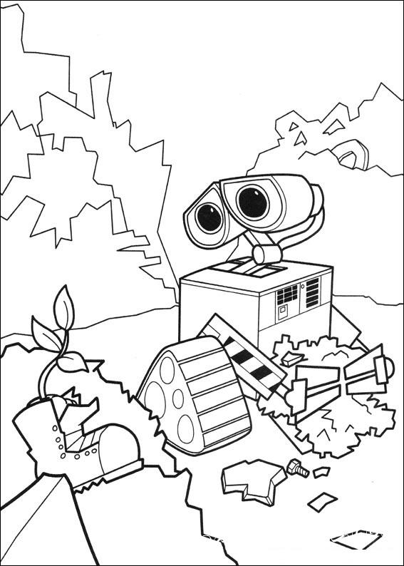 раскраски для маятников робот