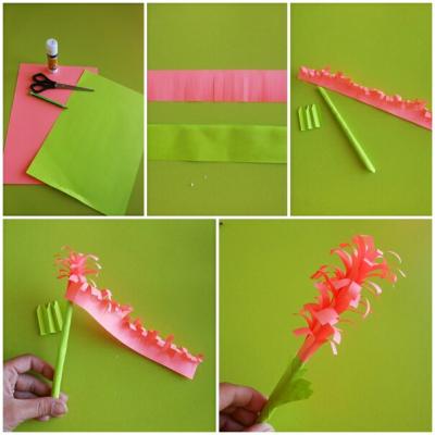 Самые красивые цветочки из гофрированной бумаги, мы сделаем сейчас своими руками!