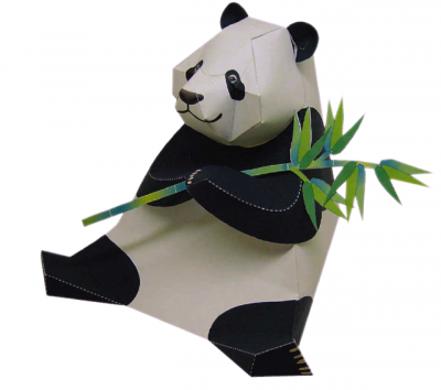 бесплатные развертки паперкрафт панда