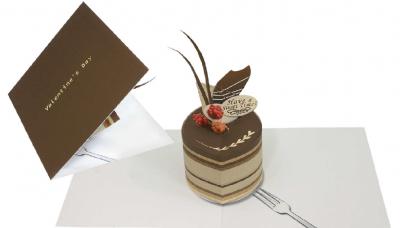 Pop-up card (chocolate cake)