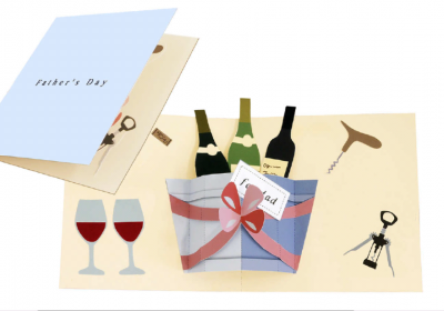 Pop-up card (Wine)