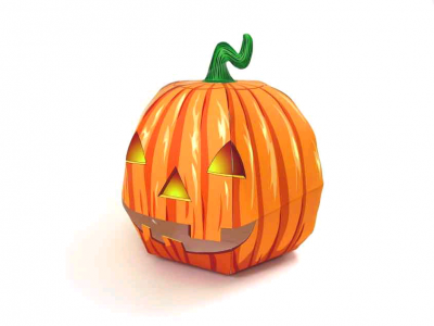 Тыква паперкрафт на Хэллоуин из бумаги