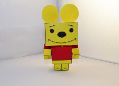 Игрушка Винни-Пух паперкрафт