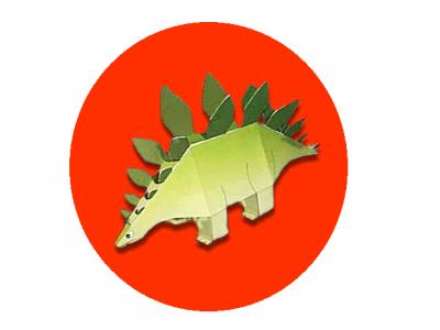 Вид динозавра - Стегозавр, прямо у вас дома. Давайте сделаем его техникой паперкрафт из бумаги. Схему и пошаговую инструкцию вы сможете скачать одним файлом, прямо сейчас.