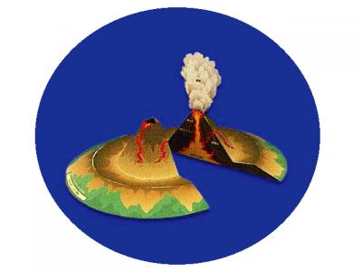 паперкрафт схема вулкан