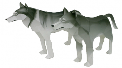 паперафт шаблон волк