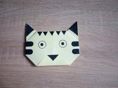 Развертка головы тигра из бумаги, с помощью техники оригами, мы сделаем прямо сейчас!