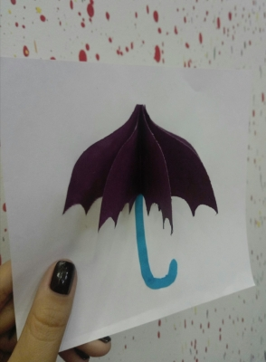 поделка для детей зонтик