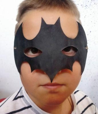 поделка из бумаги маска бетмена