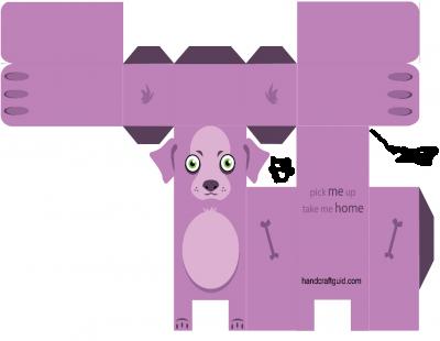 паперкарфт для детей собака