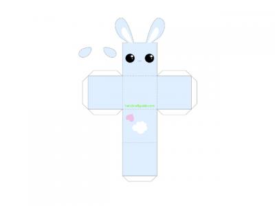 паперкарфт кролик шаблон