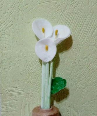 букет цветов из ватных дисков