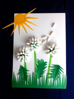 аппликация цветов для детей