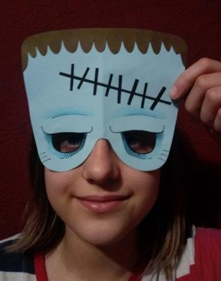 карнавальная маска зомби из бумаги