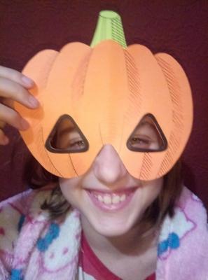 маска тыква на хэллоуин