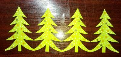 Всем привет! Сегодня мы подготавливаемся к новогодним праздникам и сделаем, вместе с вами, гирлянду с ёлочками.