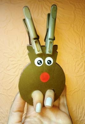 Пальчиковая игрушка-олень из бумаги, специально для вас!
