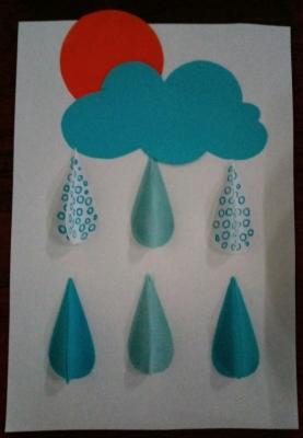 объёмная аппликация дождя