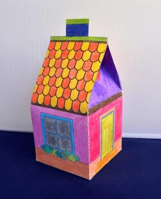 Создадим же свой город из бумажных домиков, сделанных своими руками.