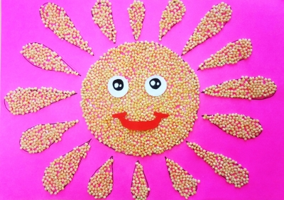 Эта аппликация-солнышко будет освещать каждый ваш день!