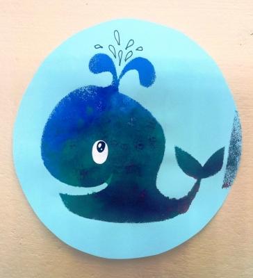 Картина кита с трафарета своими руками, специально для вас.