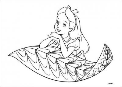 раскраски для девочек алиса
