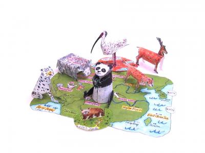 паперкрафт схемы животных
