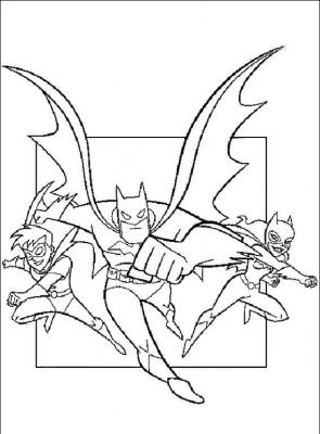 разукрашки бэтмен скачать