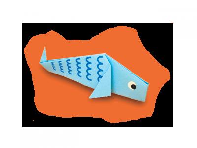 Рыбка оригами для детей, уже ждёт вас во вложенном файле. Скачай и изучай японскую культуру поделок, вместе с нами.