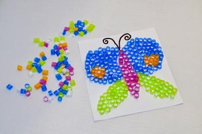 детская поделка бабочка