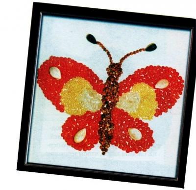Бабочка из крупы