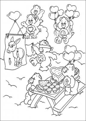 раскраска детская медведи