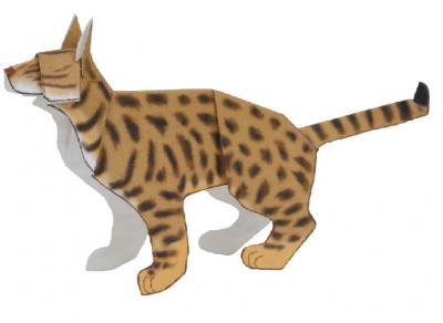 паперкрафт для детей тигр