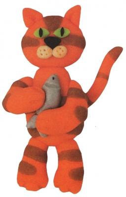 кот из пластилина для детей