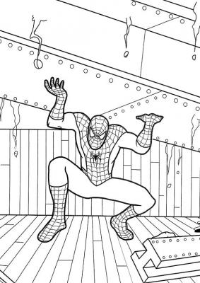 раскраски человек паук скачать