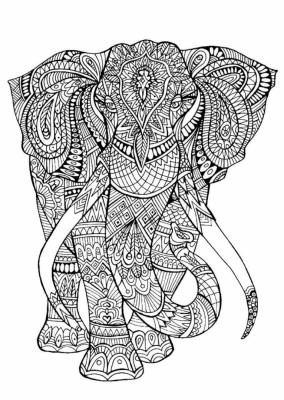 Раскраски антистресс слон