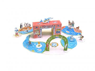паперкафт для детей аквариум