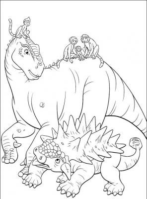 раскраски динозавр дино