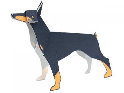 паперкрафт схема собака
